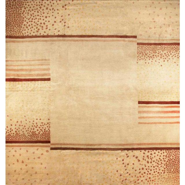 Boccara Original Wool Rug Designed by d.i.m, Circa 1940 For Sale - Image 4 of 4