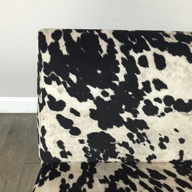 Black & White Cowhide Loveseat - Image 7 of 11