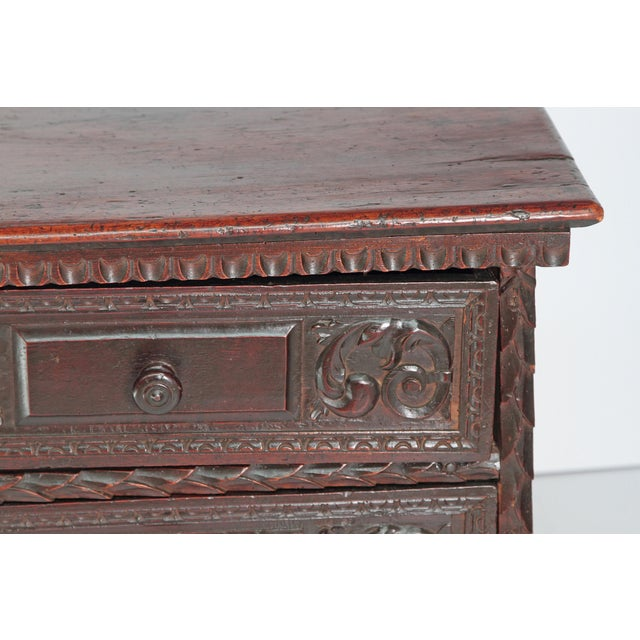 18th Century Spanish Walnut Chest For Sale - Image 9 of 12