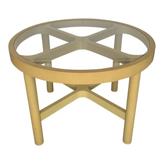 Kartell Yellow Plastic and Glass Dining Table For Sale