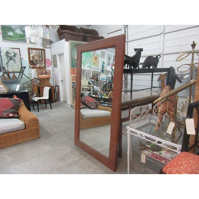 Tall Rattan Woven Mirror - Image 2 of 8