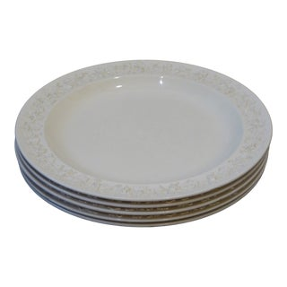 Vintage Wedgewood Etruria Creamware Luncheon Plates - Set of 5 For Sale