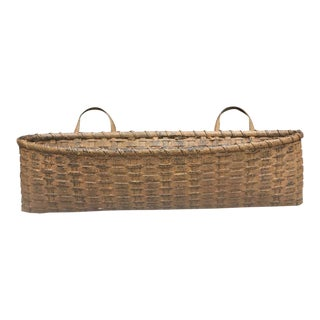French Flat Back Wall Basket
