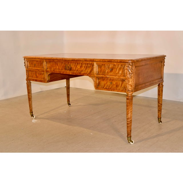 19th Century 19th Century Satin Birch Desk For Sale - Image 5 of 12