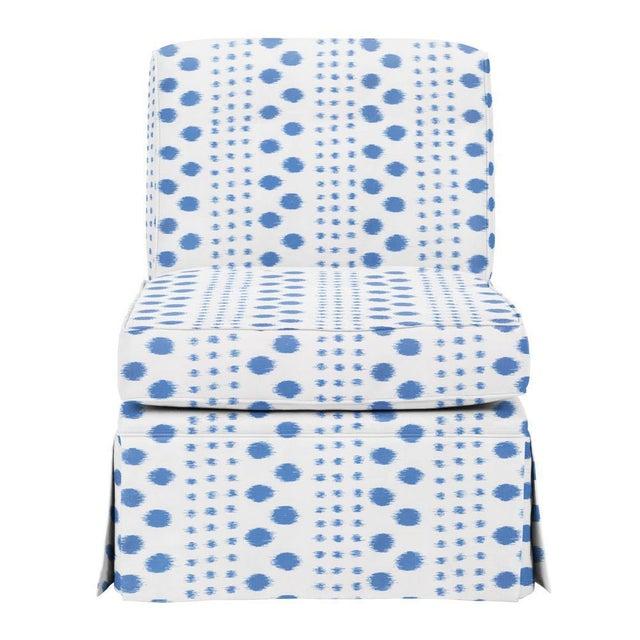 Transitional Virginia Kraft Polkat Fabric, 3 Yards in Indigo For Sale - Image 3 of 4