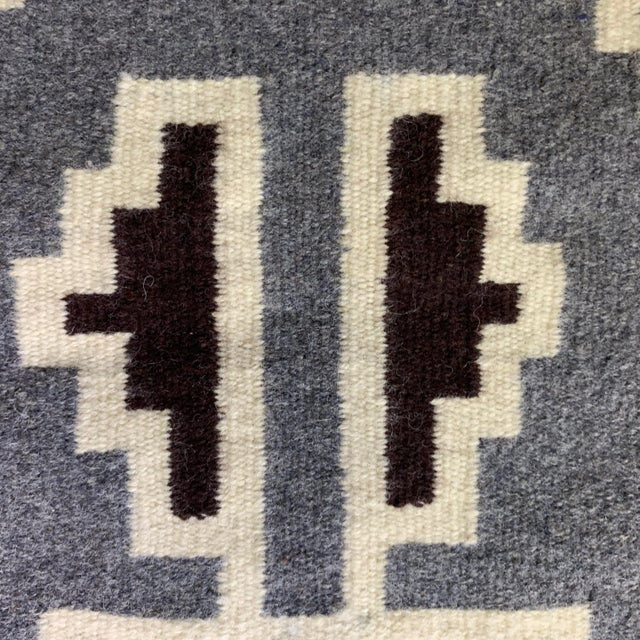Vintage Navajo Two Grey Hills Rug-2'4'x3'9 For Sale - Image 9 of 12