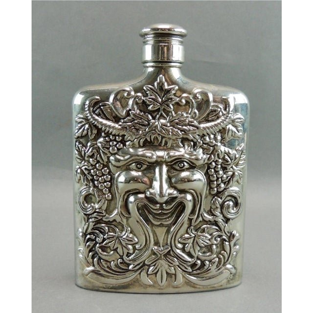 Silver Plated Satyr Art Flask - Image 2 of 5