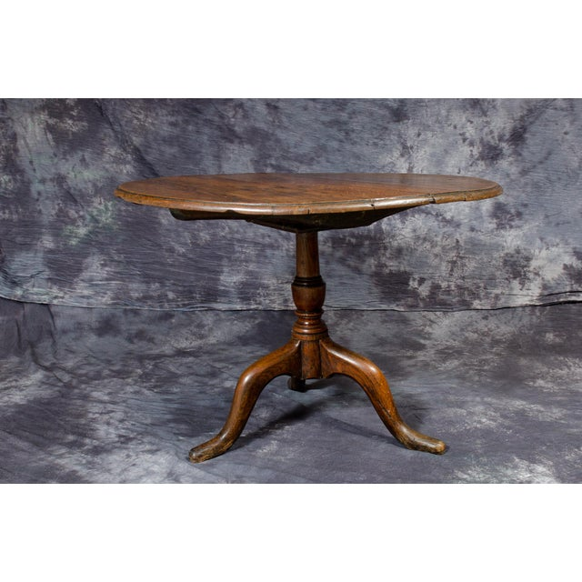 18th Century English Traditional Wooden Tripod Table For Sale - Image 9 of 9