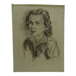 "1950s Figurative Original Drawing/Sketch on Paper ""Seriously"" by Tom Sturges Jr. For Sale"