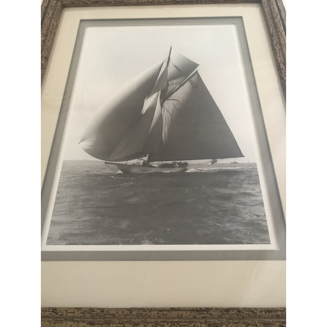 """Framed and Double Shadow Mount Matted """"Candida"""" Black & White Prints From 1923 & The """"Velsheda"""" From 1943 - a Pair For Sale - Image 9 of 13"""
