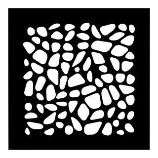 Chuck Krause Stones (Black & Gray), original three dimensional geometric design wall relief 2020 For Sale