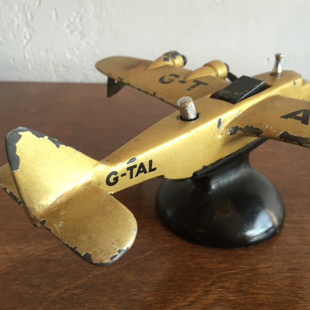 Art Deco Cast Iron Airplane Lighter For Sale In Los Angeles - Image 6 of 7