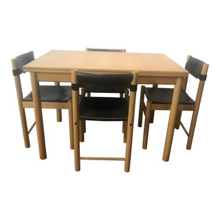 1980s Mid-Century Modern Ibisco Sedie Dining Set - 5 Pieces For Sale