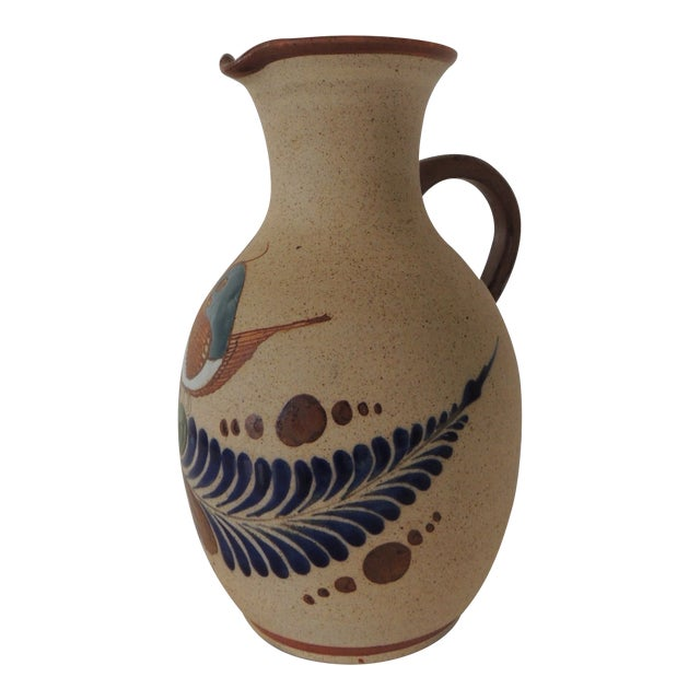 Large Mexican Tonala Water Jug. For Sale
