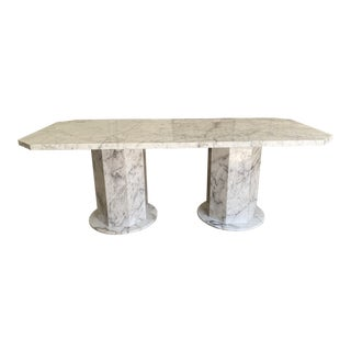 Arabescato Marble Dining Table For Sale