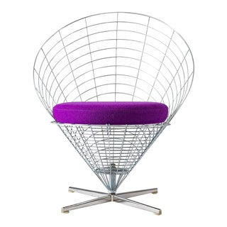 "Verner Panton ""Wire Cone"" Chair For Sale"