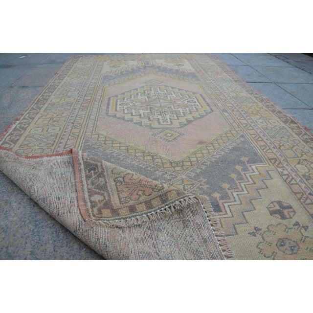 Turkish Anatolian Floor Carpet - 4′ × 7′ For Sale In Austin - Image 6 of 6