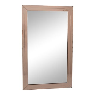 French Large Peach Color Venetian Mirror For Sale