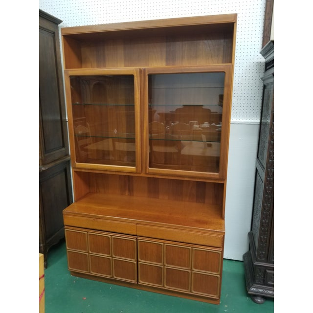 Brown Mid Century Modern McIntosh China Cabinet For Sale - Image 8 of 8