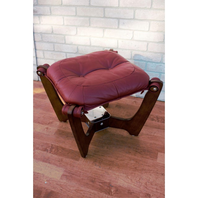 Mid Century Modern Odd Knutsen Luna Lounge Chair and Ottoman For Sale - Image 11 of 13
