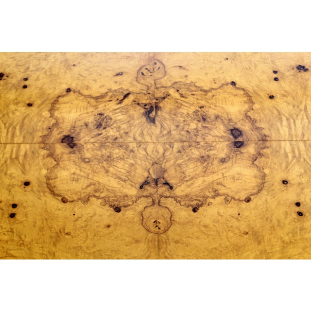 Brown Mid Century Modern Milo Baughman Large Low Square Burl Wood Coffee Table 1970s For Sale - Image 8 of 9