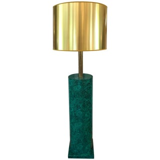 Italian Faux Malachite Floor Lamp by Piero Fornasetti For Sale