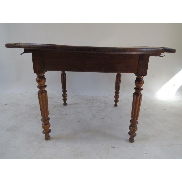 1900s Round Table with Flaps For Sale - Image 9 of 9