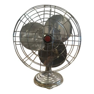 Mid 20th Century Industrial Style Table Fan For Sale