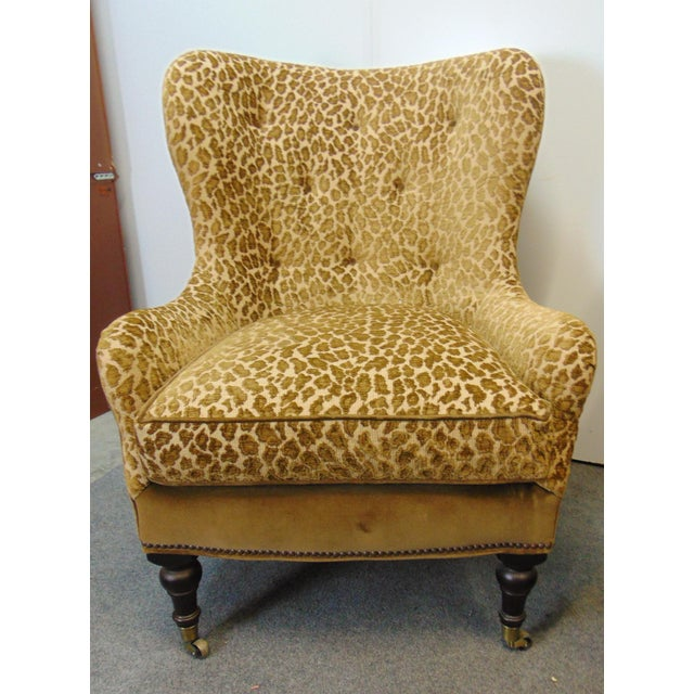 Hollywood Regency Hollywood Regency Style Leopard Velvet Lounge Chairs - a Pair For Sale - Image 3 of 6