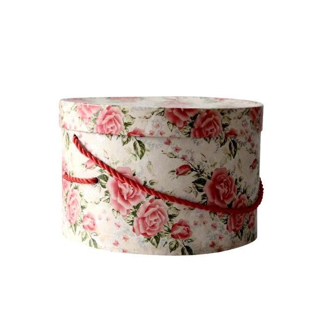 Vintage Floral Hat Box - Image 1 of 8