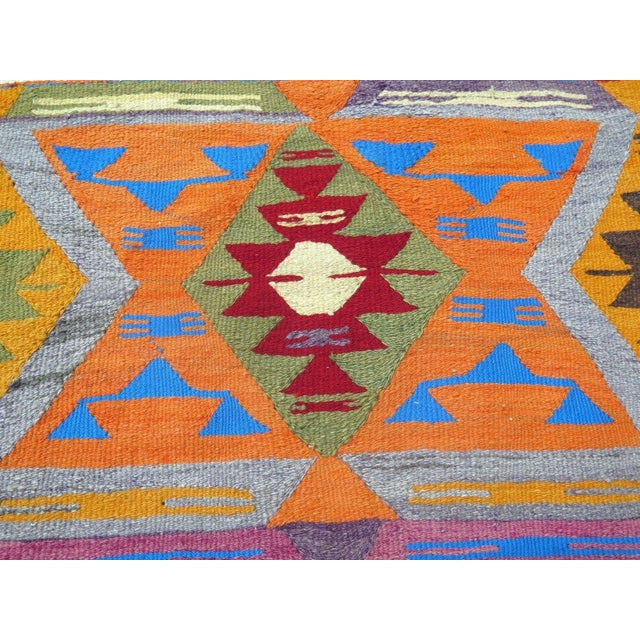Vintage Turkish Kilim Rug - 5′7″ × 8′11″