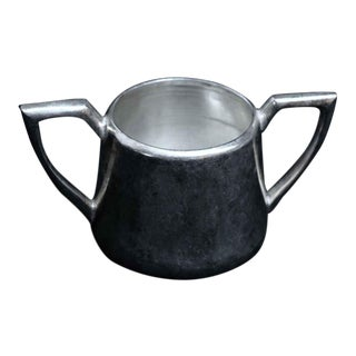 Salvaged Waldorf Silver Plated Sugar Bowl For Sale