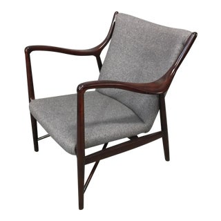 1960s Vintage Finn Juhl for Niels Vodder Rosewood Finished Danish Modern Chair For Sale