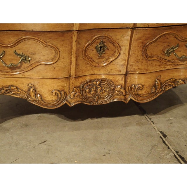 "Wood Rare Period Louis XV Pearwood Commode ""En Tombeau"" Circa 1750 For Sale - Image 7 of 11"