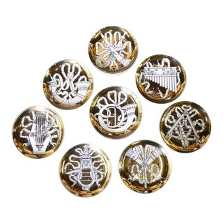 1950s Piero Fornasetti Musicalia Coasters - Set of 8 For Sale
