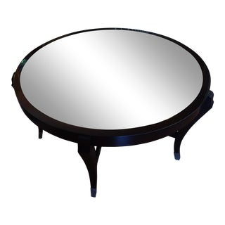 Century Round Cocktail Table With Antique Mirrored Top