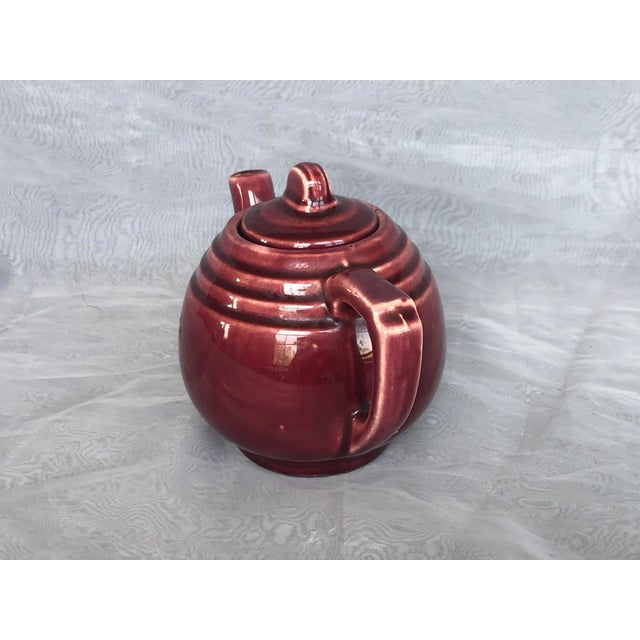 1940s Vintage 1940s Usa Pottery Teapot For Sale - Image 5 of 13