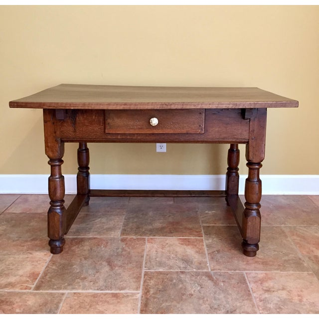 Antique Hand Hewn Mahogany Table For Sale - Image 12 of 12
