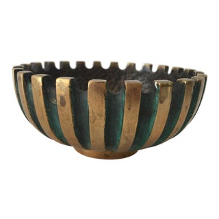 1950s Mid-Century Modern Maurice Ascalon for Pal-Bell Co Bronze Ashtray For Sale