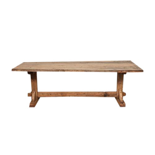 French Farm Trestle Table For Sale