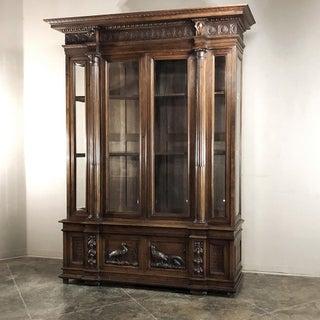 Grand 19th Century Italian Walnut Neoclassical Bookcase Preview
