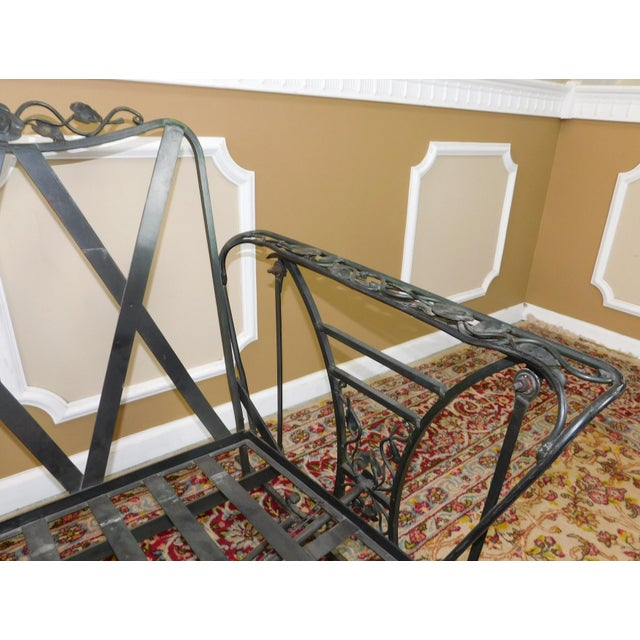 Vintage Lee Woodard & Sons Wrought Iron Glider Sofa For Sale In New York - Image 6 of 11