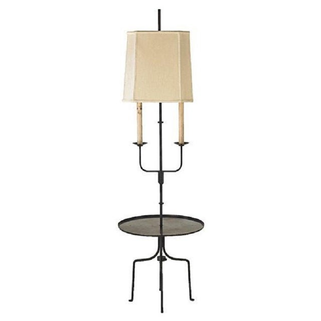 Tommi Parzinger Table floor lamp. Enameled steel frame and two sockets. Shade not included.