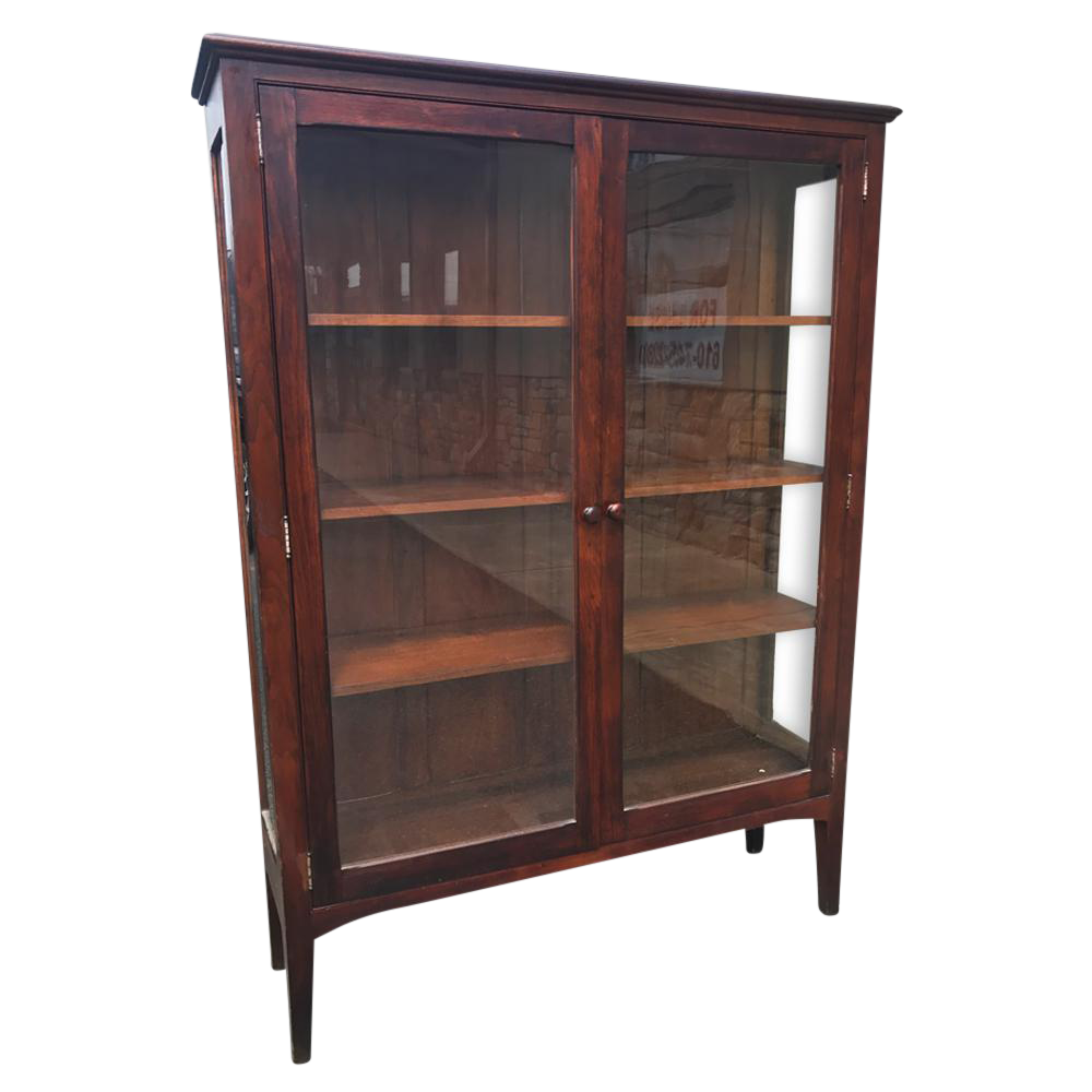 Antique Arts U0026 Crafts Mission Style Bookcase Curio Cabinet