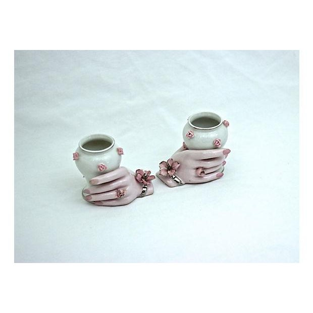 Holding Hands Vases - A Pair - Image 3 of 7