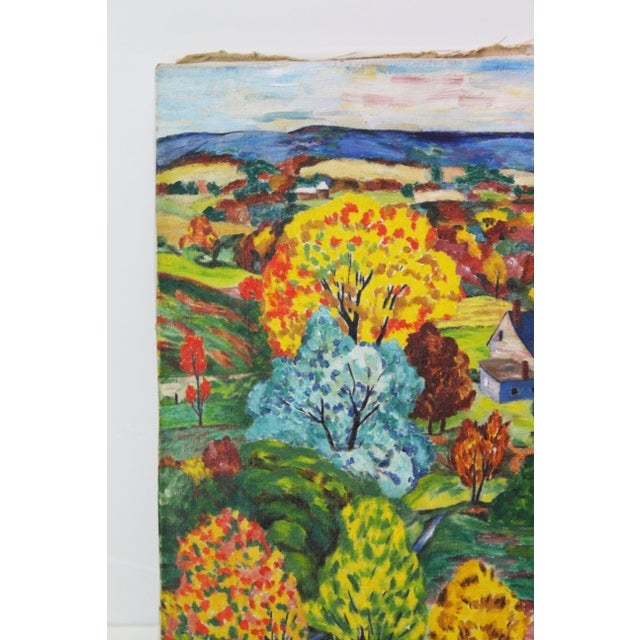 Country Vintage Mid-Century Ede-Else Landscape Painting For Sale - Image 3 of 10