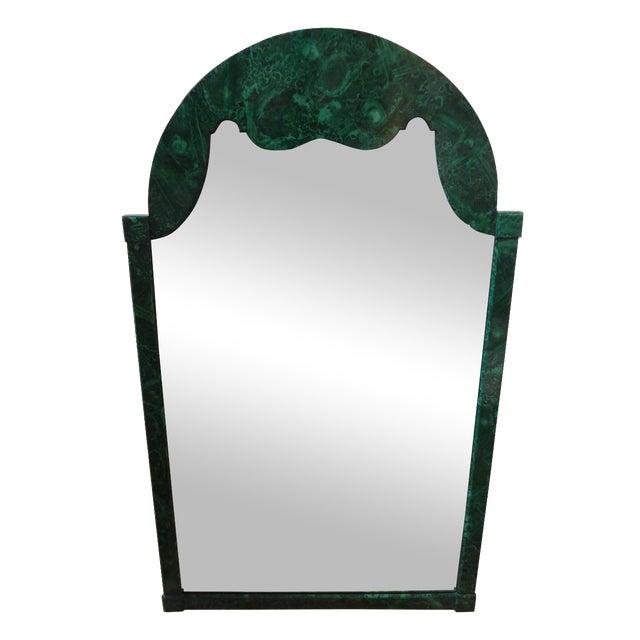 Italian Faux Malachite Mirror For Sale