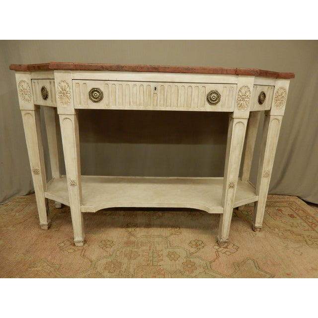 White Early 19th C Painted Directoire' Console For Sale - Image 8 of 10