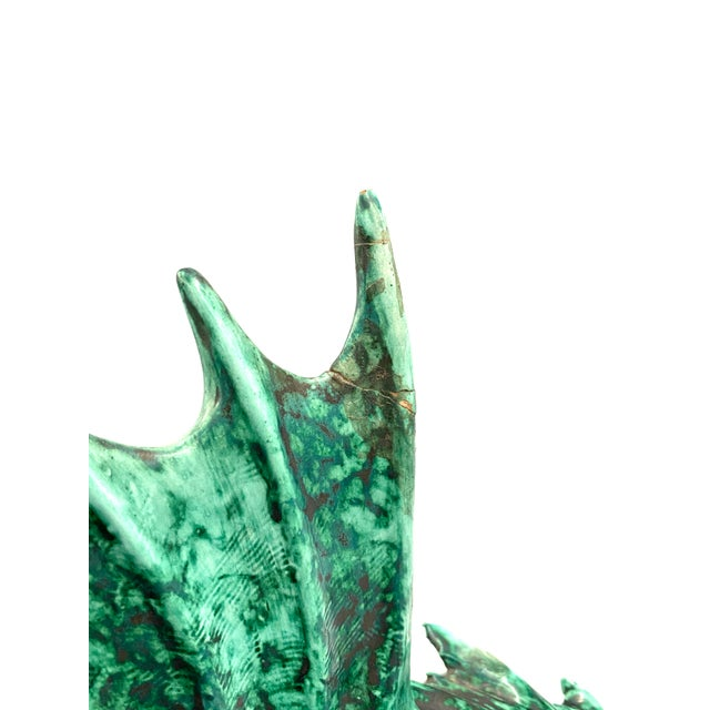 """1934 Guido Cacciapuoti """"Pesce Scorfano"""" Sculpture in Glazed Green Earthenware Signed and Dated For Sale - Image 9 of 13"""