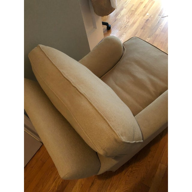 Contemporary George Smith Linen/Down Arm Chair For Sale - Image 3 of 8